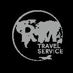 RM TRAVEL logo gris